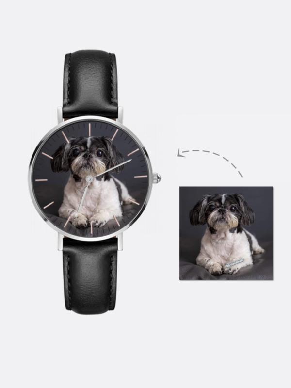 Personalized Photo Watch Leather Strap,Custom Pet Watch,Personalized Pet Watch,Personalized Custom Watch,Men Women's Watch