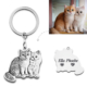 Silhouette Keychain-925 sterling silver