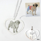 Heart Necklace-titanium steel