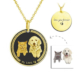 3D Medallion Necklace-gold plated