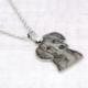 Silhouette Necklace-titanium steel