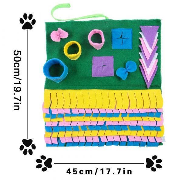 Pet Dog Snuffle Mat Pet Sniffing Training Blanket Detachable Fleece Pads Dog Mat Relieve Stress Nosework Puzzle Toy Pet Nose Pad