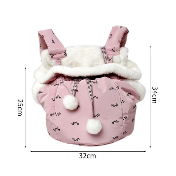 Pet Dog Carriers Backpacks Front Hanging Chest Pack Semi-Closed Warm Bag for Outdoor Chihuahua Cats Puppy Carrying Strap Bag