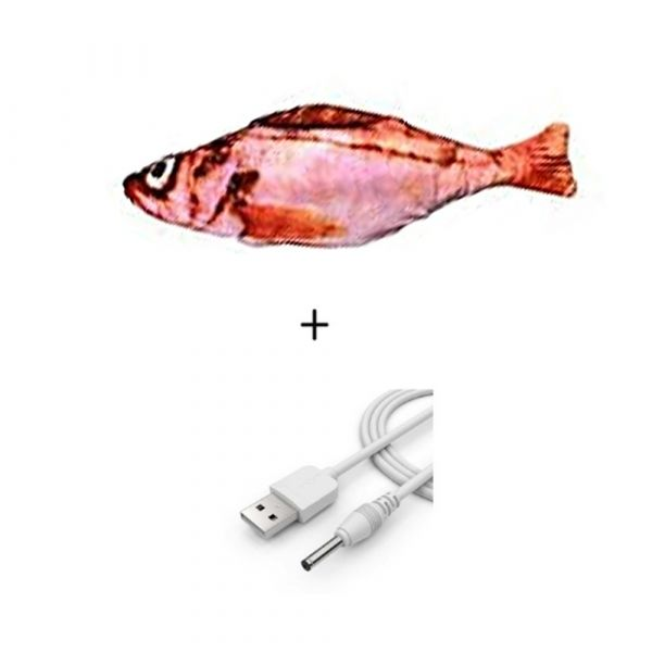 FLIPPY FISH - Electric Cat Toy 3D Fish with USB Charging
